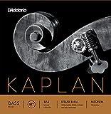 D'Addario KS610 3/4M Kaplan Solo Double Bass String Set, 3/4 Scale, Medium Tension