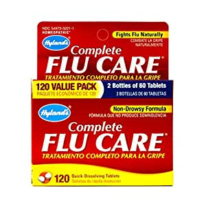 Hyland's Complete Flu Care Tablets, Natural Non-Drowsy Relief of Flu Symptoms, 120 Count