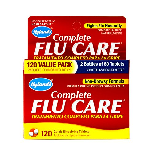 Medicine Homeopathic Flu (Hyland's Complete Flu Care Tablets, Natural Non-Drowsy Relief of Flu Symptoms, 120 Count)