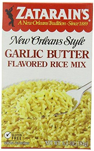 Zatarain's Garlic Butter Flavored Rice Mix 6.5 Oz (Pack of 4)