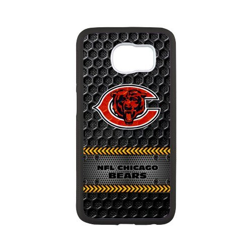 Fayruz- Personalized Protective Hard Textured Rubber Coated Case Cover for Samsung Galaxy S6 - Chicago Bears -S6O513