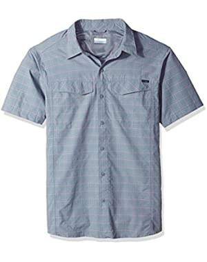 Men's Silver Ridge Multi Plaid Short Sleeve Shirt, Grey Ash Dobby Plaid, X-Large