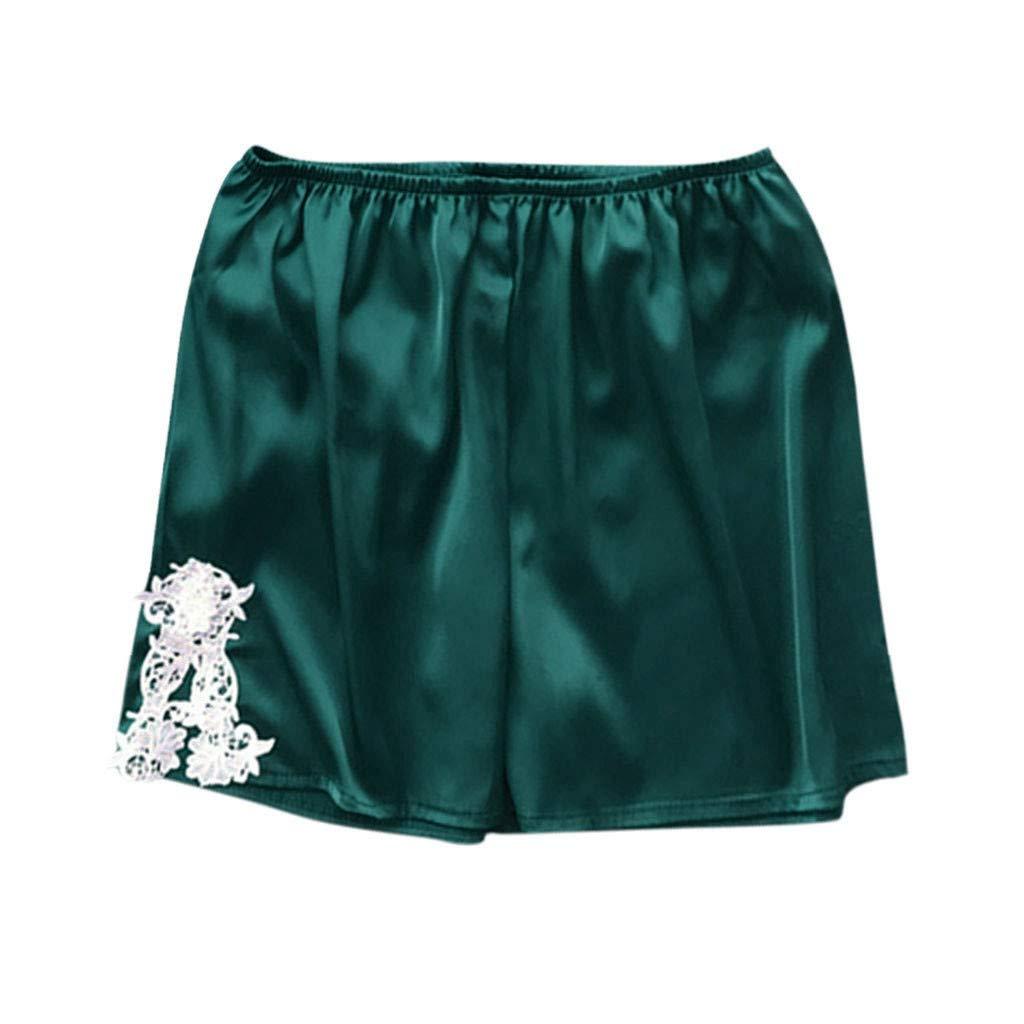 JFLYOU Women Sexy Lingerie Plus Size Lace Loose Nightwear Babydoll Pajamas Short Pants(MulticolorC,XXXL)