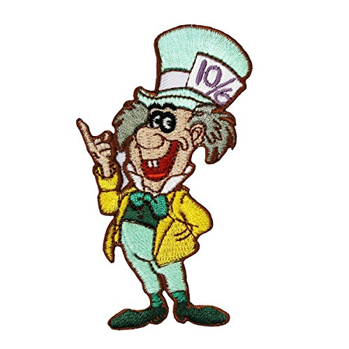 Mad Hatter Patch Classic Alice in Wonderland Disney Character Iron-On Applique
