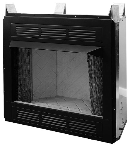 Louvered Gas Firebox (Comfort Flame CUVF36C Vent-Free Circulating Louvered Firebox, 36-Inch)