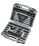 Stanley 92-839 Black Chrome and Laser Etched Socket Set, 99-Piece