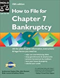 How to File for Chapter 7 Bankruptcy, Stephen Elias and Robin Leonard, 087337827X