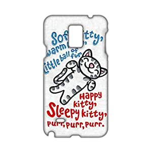 Angl 3D Case Cover Cute Cartoon Kitty Cat Phone Case for Samsung Galaxy Note4