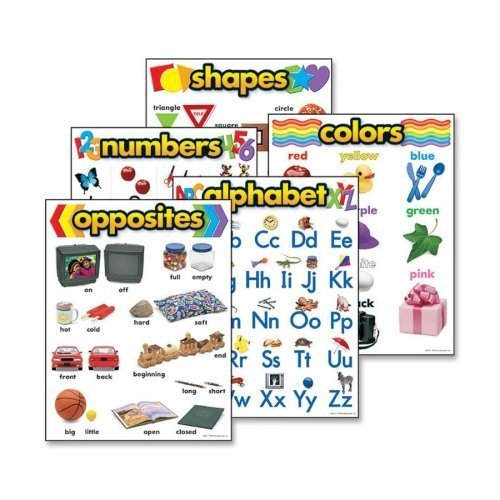 Trend Enterprises 38920 Learning Chart Combo Packs, Kindergaten Basics, 18