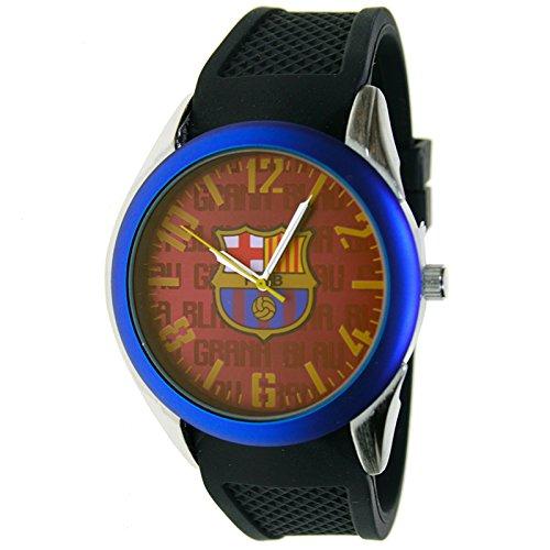 Reloj analógico de caballero F.C.BARCELONA - Bisel azul - Escudo F.C. Barcelona: Amazon.es: Relojes