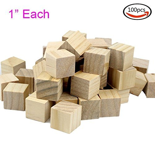 Wood Block Wooden (Goodlucky 100 Pcs 1