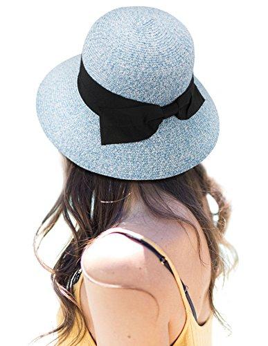 Women's Lovely Classy Bowtie Straw Sun Hat