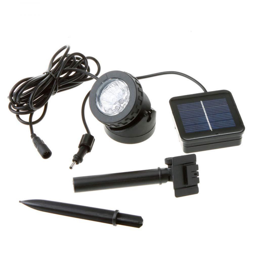 HUANGYABO Waterproof Solar Lamp Underwater Solar Spotlight 6 Led Projection Lamp Landscape Chandeliers