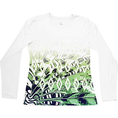Guy Harvey Women's Lion Fish Performance Shirt XL White ()