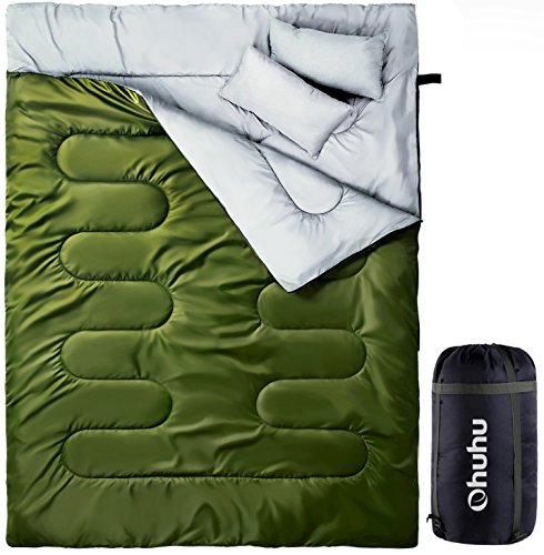 Ohuhu Double Sleeping Bag Green