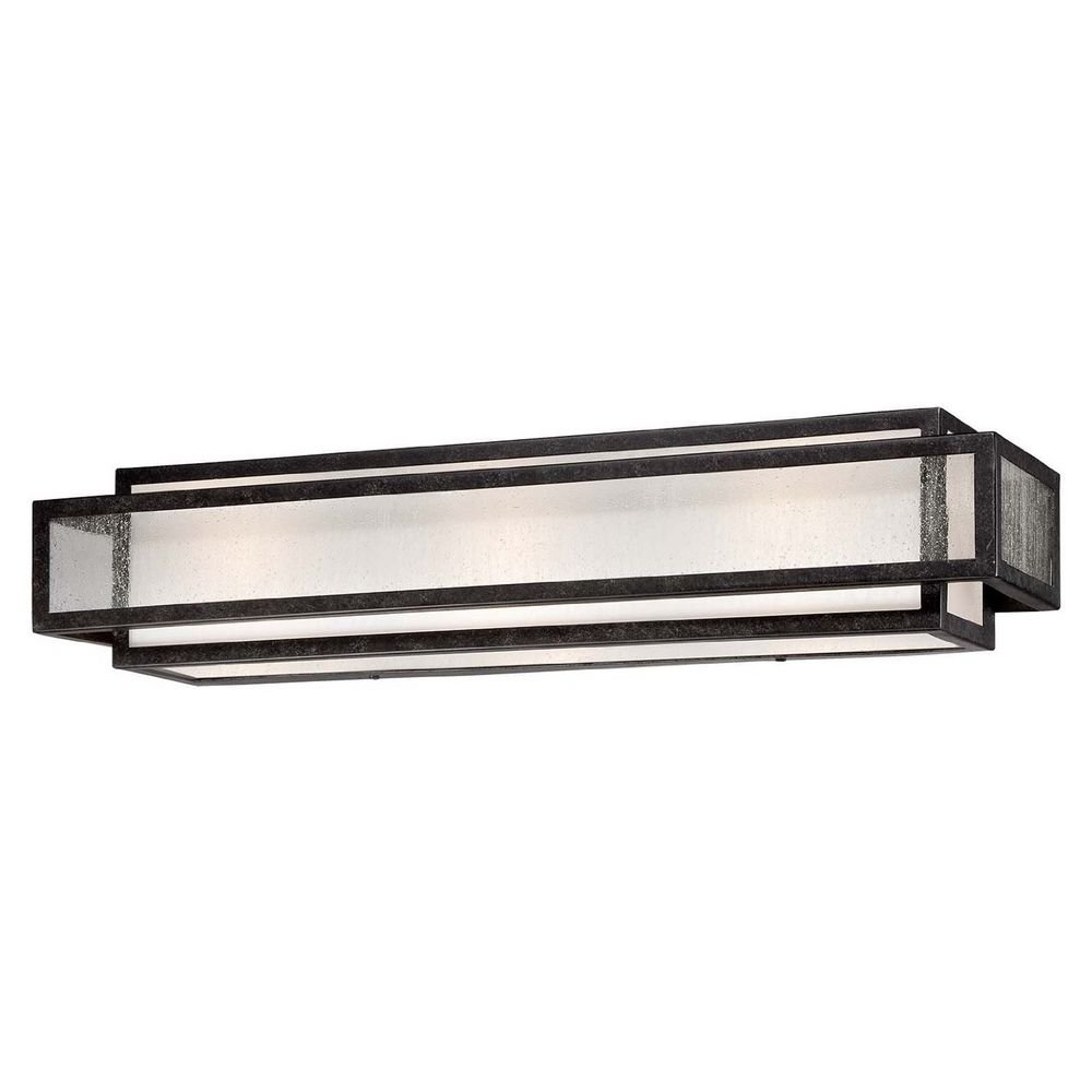 Seeded Glass Bathroom Light Bronze Minka Lavery
