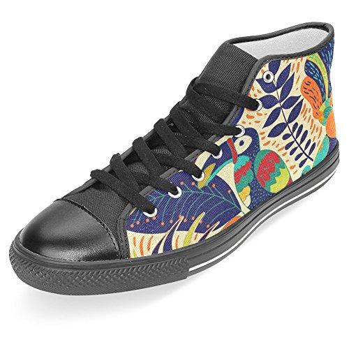 Interestprint Kick Bästa Klassiska Tillfälliga Duk Mode Skor Tränare Snörning Sneakers Tropiska