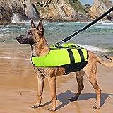 Namsan Dog Life Jacket - Folding Dog Life Vest,Portable Airbag Dog Swimming Jacket Vest,Green