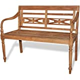 vidaXL Garden Bench Teak Outdoor Home Wooden 2 Seat Seater Furniture Patio Park