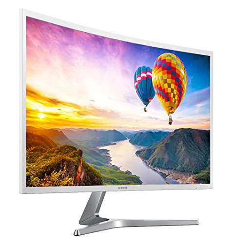 HD Curved Screen LED TFT LCD Monitor Glossy White MagicBright FreeSync Technology Eco Saving Plus Eye Saver VGA HDMI ()