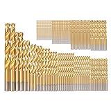 99Pcs/Set HSS Titanium Coated Twist Drill Bit Set Tool 1.5mm-10mm Drilling Tools Kit