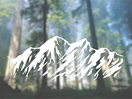 5fe3c57261f Amazon.com  Mountains Car Vinyl Decal - SELECT SIZE  Home   Kitchen