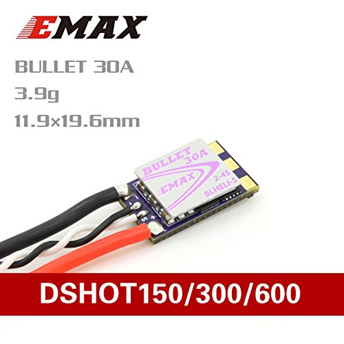 Emax EMX-SC-1774 D-SHOT Bullet Series 30A 2-4S BLHELI_S ESC Support Onshot42 Multishot D-shot Ready
