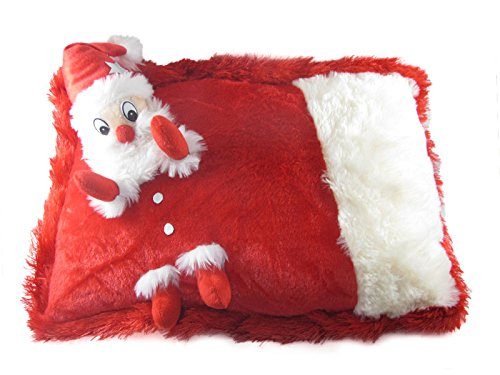 Tickles White & Red Chrishmas Santa Claus Cushion Stuffed Soft Plush Toy 35 cm