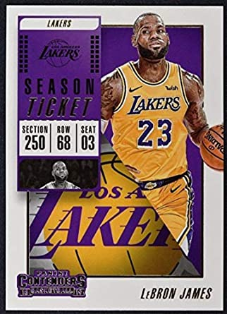 4816acb658729 Amazon.com: 2018-19 NBA Contenders Season Ticket #30 LeBron James ...