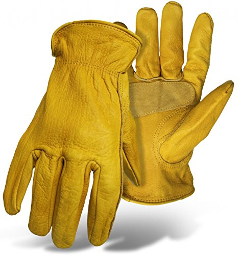 Grain Cowhide Leather Driver Glove With Palm ()