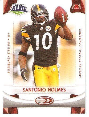 2008 Donruss - Score Limited Edition Super Bowl XLIII Pittsburgh Steelers #5 Santonio Holmes - WR - SUPER BOWL MVP - NFL Trading Card Super Bowl Champions!