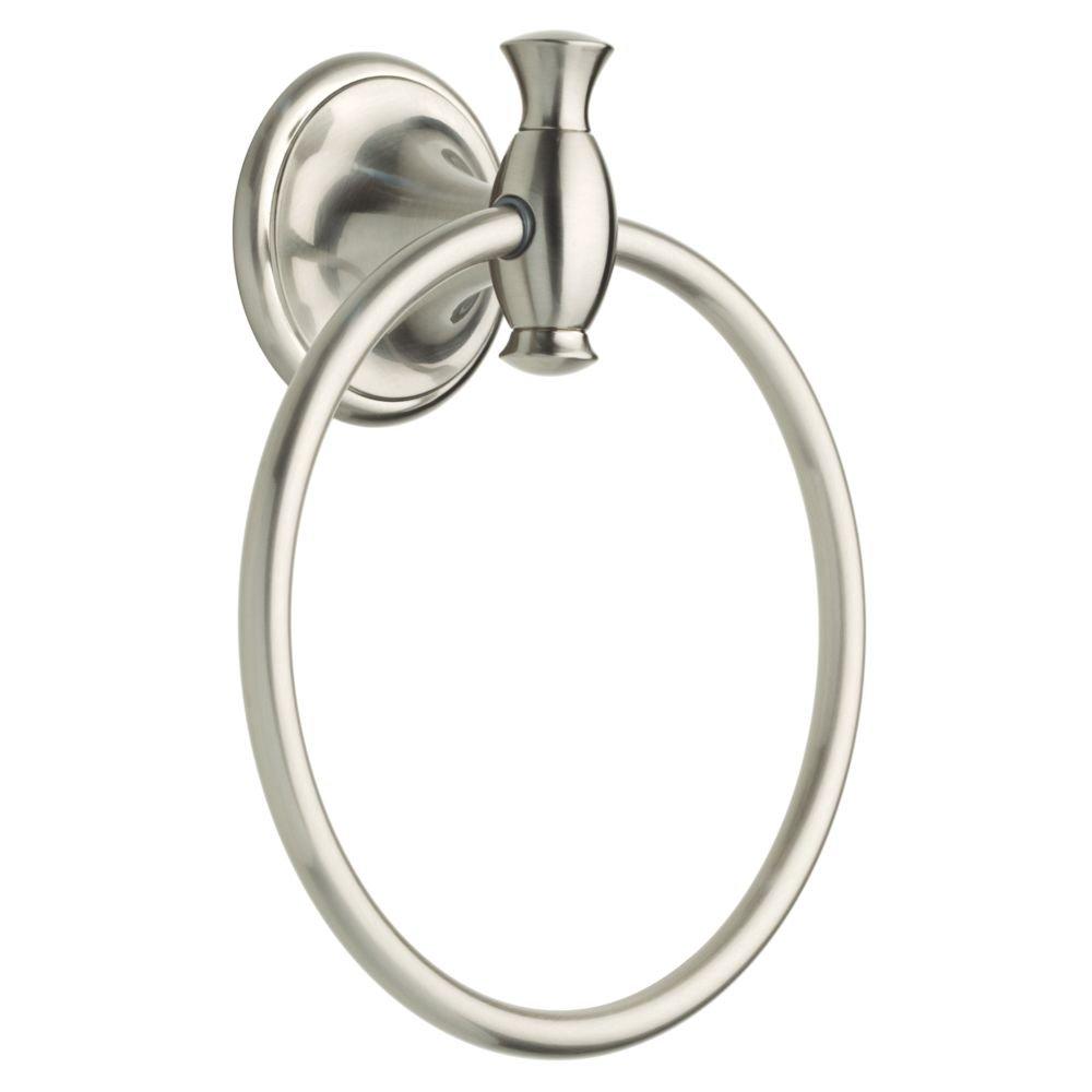 Delta Faucet 136670 Meridian Towel Ring, SpotShield Brushed Nickel, Satin by DELTA FAUCET