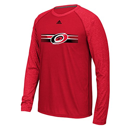 fan products of NHL Carolina Hurricanes Mens Resurface Ultimate L/S Raglan Teeresurface Ultimate L/S Raglan Tee, Red, Large
