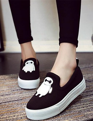 ZQ gyht Zapatos de mujer-Plataforma-Creepers-Mocasines-Exterior / Casual-Tela-Negro / Rojo , red-us9 / eu40 / uk7 / cn41 , red-us9 / eu40 / uk7 / cn41 red-us9 / eu40 / uk7 / cn41