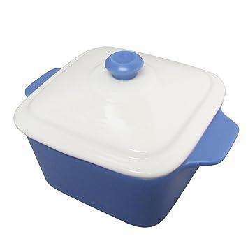 Mini Cuadrado pastel bandeja para horno con tapa olla de cocina regalo Bake – azul