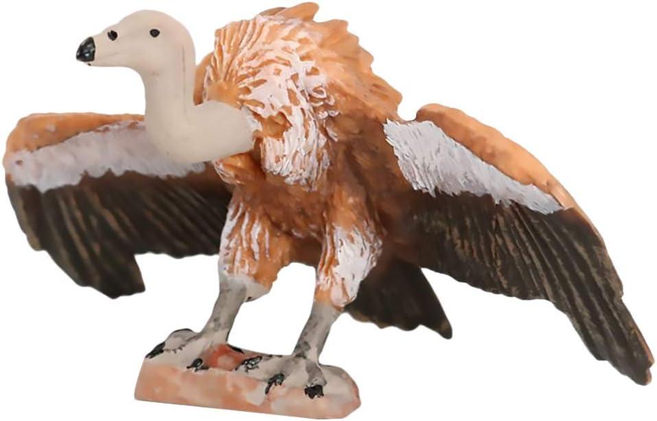 TOYANDONA Vulture Figure Plastic Eagle Toy Animal Bird Educational Toys Fairy Garden Decorations Artificial Wildlife Model Figure Table Decoration