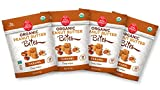 Soul Sprout by Two Moms Organic Peanut Butter Bites, Caramel Flavor, 4 oz (Pack of 4)