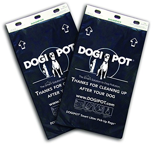 DOGIPOT 1402HP-CASE Header Pak Litter Pick up Bags, 100 Bags per Card (2000 Bags per (100 Header)