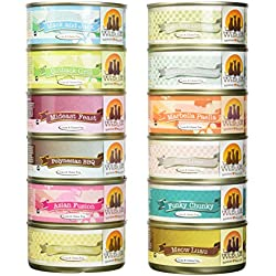 Weruva Variety Pack Grain-Free Canned Cat Food (Pack of 12, 5.5 Ounce cans)