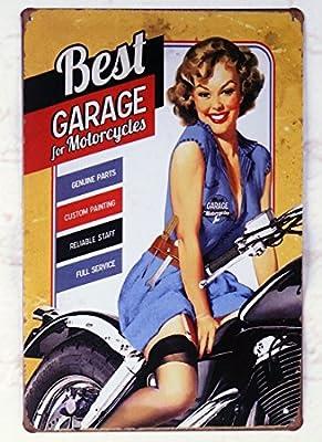 DEPENDABLE SERVICE GARAGE VINTAGE RETRO METAL TIN SIGN HOME DECOR BAR