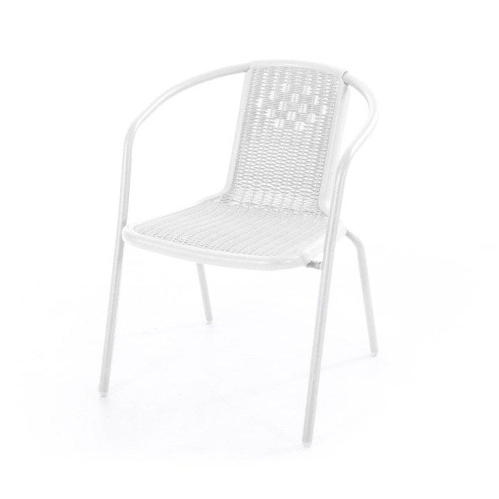 53.5x60.5x74 cm VERDELOOK iOS Sedia Bianca con braccioli per larredo del Giardino Dimensioni