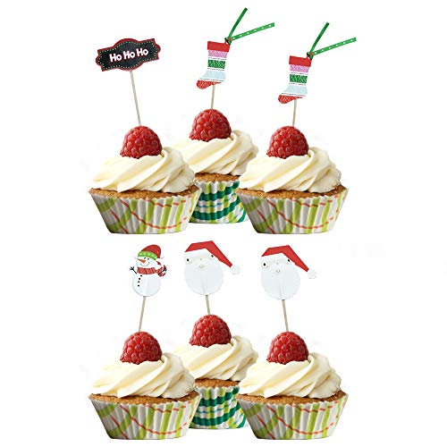 PARTYMASTER Christmas Party Decorations Food Toothpicks, used for sale  Delivered anywhere in USA