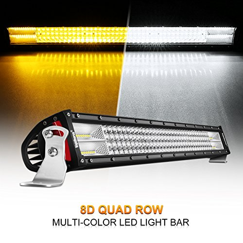 LED Light Bar, Rigidhorse 32'' 464W Quad Row Multi-Color Light Bar Flood Spot Combo Beam Off Road Light Driving Light with Wiring Harness Kit and Mounting Brackets Set for Jeep, ATV, SUV, UTV, Boat by Rigidhorse
