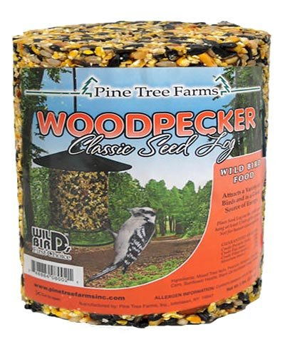 Case Pack of Pine Tree Woodpecker Classic Seed Logs, 4.75 lbs. each by Pine Tree Farms