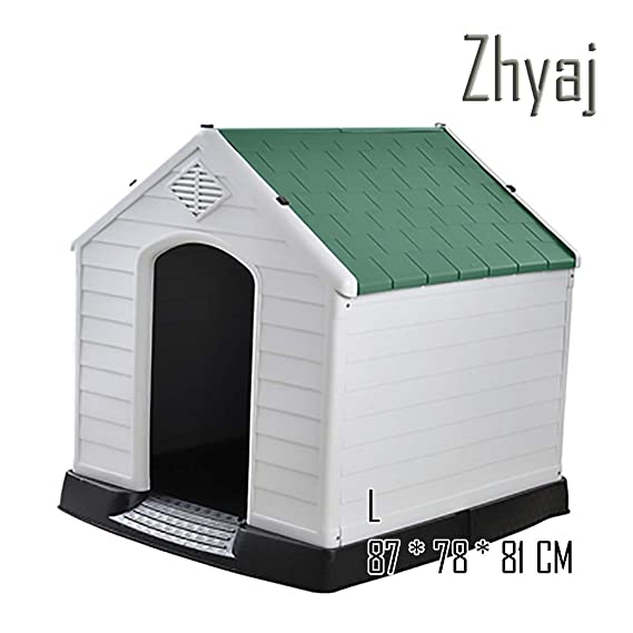 Zhyaj Caseta Perros Exterior, Casa Perro Grande Durable Estable Impermeable Desmontable Cama para Mascotas Ventilación Respirable Casa De Perro Extra Grande ...