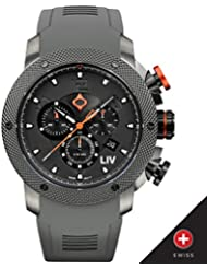 New LIV GX1 Swiss Chronograph Gray IP & Gray Numbers - 1240.45.111.SRB600