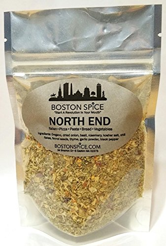 Boston Spice North End Italian Herb Seasoning Blend for Pizza Pasta Sauce Vegetables Bread Dipping Oils (Approx. 1 Cup of Spice)