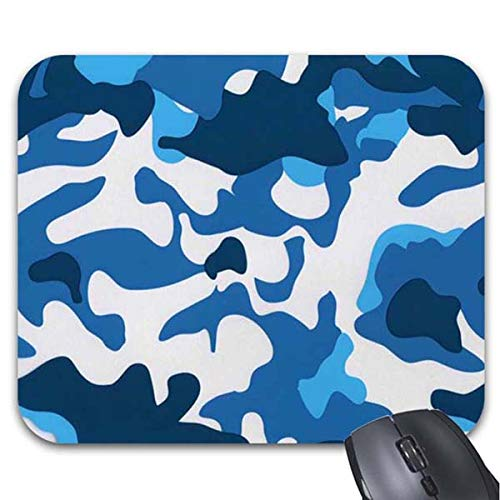 Mousepad Blue Camouflage Pattern Mouse Mat by Smity 106