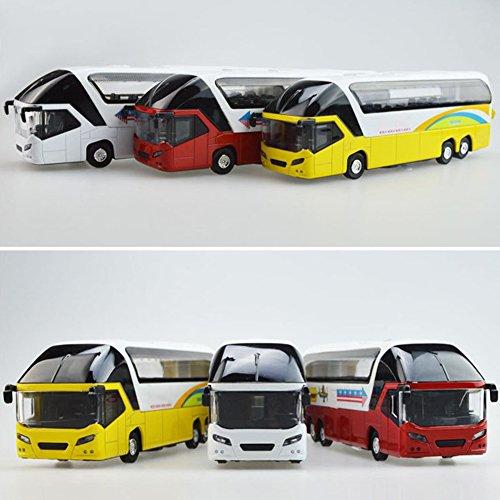 車モデル 車おもちゃ 1:32シミュレーション合金ツアーバス音と光旅客列車二階建てバスキッズおもちゃクリスマスギフト