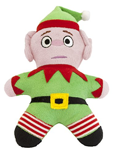 Pet Brands Christmas Elf Plush Toy with Replaceable Squeaker Dog Toy